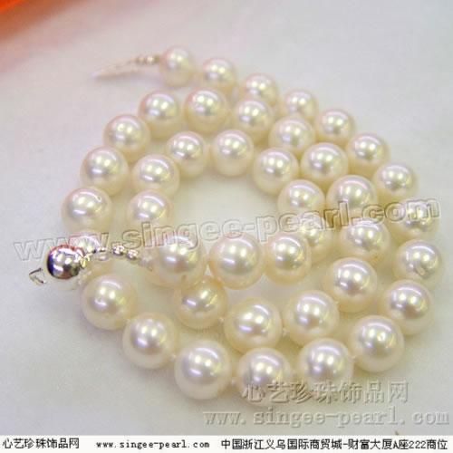 珍珠项链XL008-10 心艺淡水珍珠