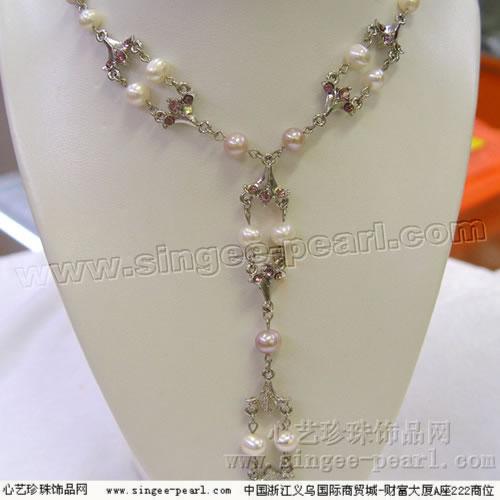 珍珠项链XL008-18 心艺淡水珍珠