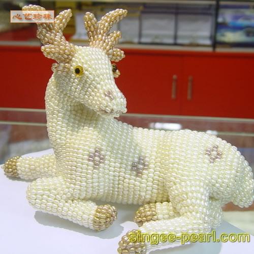(梅花鹿)珍珠工艺品GYP018-3