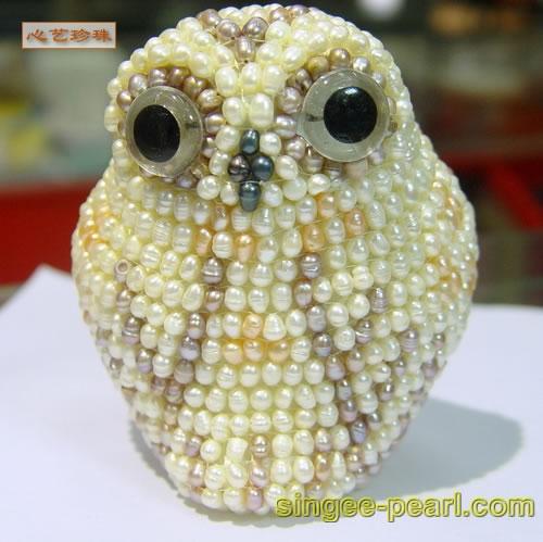 (猫头鹰)珍珠工艺品GYP018-12