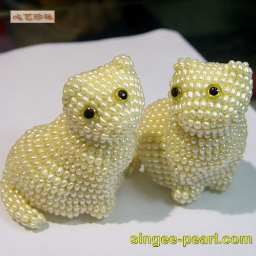 (小猫)珍珠工艺品GYP018-13