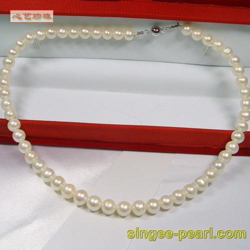 珍珠项链XL011-8 心艺淡水珍珠